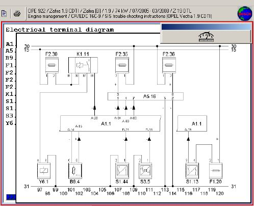 wiring diagram opel 1.9 CDTI